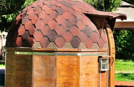 Бани-бочки в виде купола