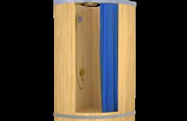 Угловые душевые кабины из дерева