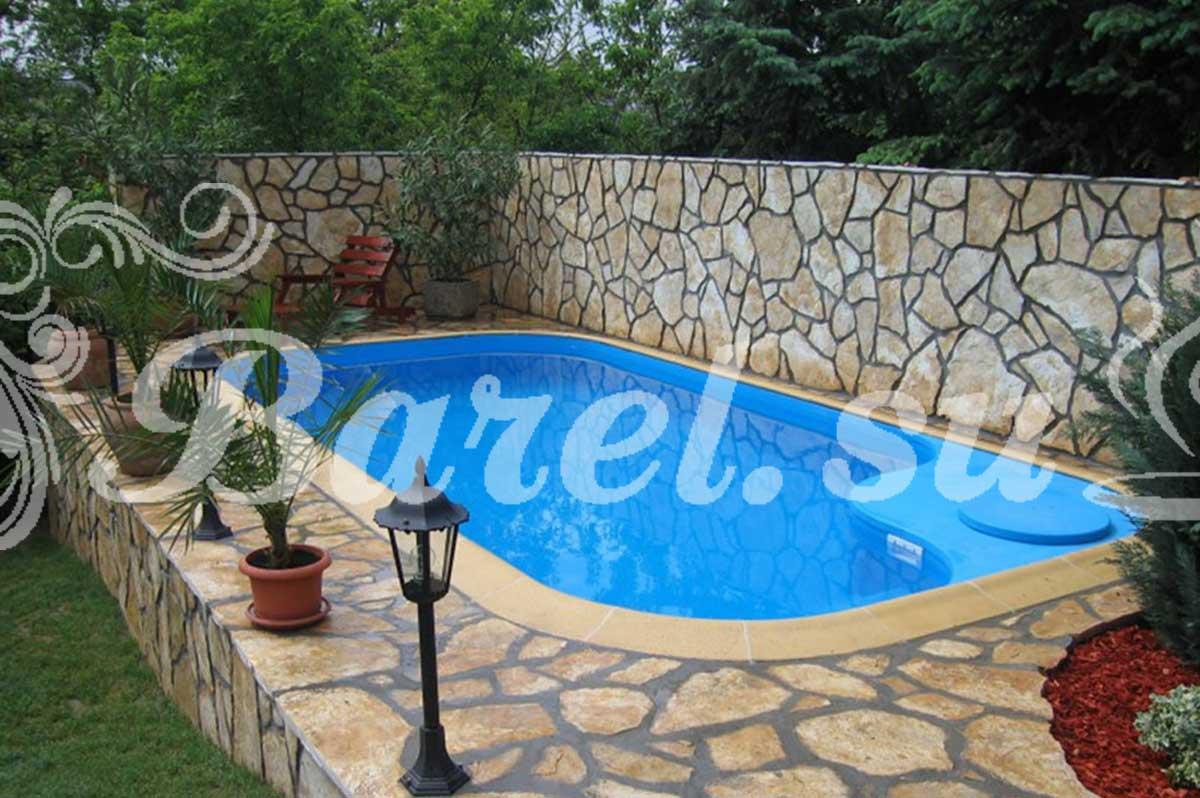 прямоугольный бассейн с пластиковой вставкой фото, фотография, картинка, изображение, посмотреть.