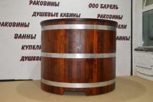 круглая купель из дерева фото, круглая деревянная купель фотография, изображение, картинка, посмотреть.